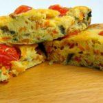 Fritatta de frango com legumes – sem glúten e sem lactose