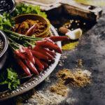 Feijão-fradinho com espinafre e vinagre balsâmico