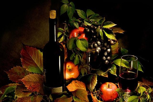 Maçãs no vinho tinto