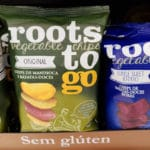 Chips de mandioca e batatas-doces da Roots to Go