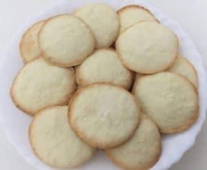 Biscoitos de coco sem glúten e sem lactose