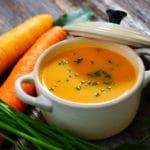 Creme de cenoura com laranja