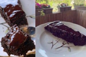 Bolo de chocolate de farinha de amêndoa